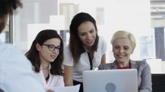 Board meeting with staff members Stock Footage