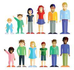 Group of children Stock Illustration