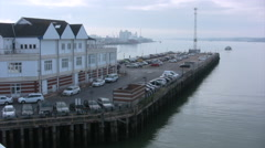View from a Ferry leaving Southampton Dock Stock Footage