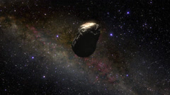 ASTEROID FLY BY Stock Footage