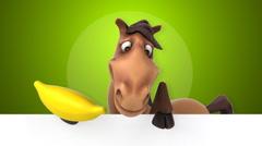 Fun horse - 3D Animation Stock Footage