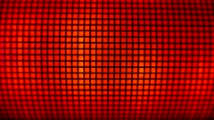 4K Grid Red Led Light Effects Stock Footage
