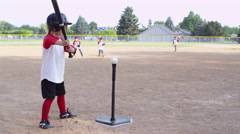 Children playing baseball Stock Footage