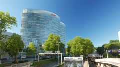 4K E.on Eon building in Essen NRW Germany Europe Stock Footage