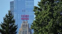 New York City Buildings Through Trees Stock Footage