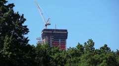 Constructing A Tree Skyscraper Stock Footage