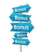 Bonus placards concept illustration Stock Illustration