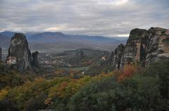 Meteora Rocks and Monasteries, Greece Stock Photos