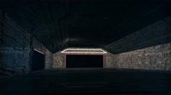 4K Cinematic Space Station Hangar 3 Stock Footage