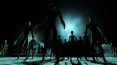 Alien Leader and Army Show Welcome 1 Stock Footage