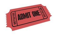 Ticket admit one concept illustration Stock Illustration