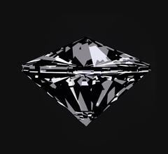 Diamond in front view. Vector illustration Stock Illustration