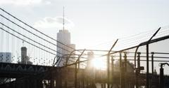 World Trade Center - sunset - establishing shot - NYC - 4k Stock Footage
