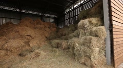 Hay warehouse Stock Footage