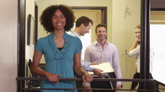 Portrait of smiling coworkers Stock Footage