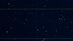 Constellation of Horologium. Scaled star shapes Stock Footage