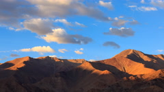 4K Timelapse of mountain at sunset, Leh, Ladakh, Jammu and Kashmir, India Stock Footage