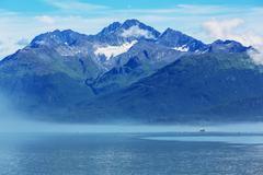 Picturesque coastline in Alaska, USA Stock Photos