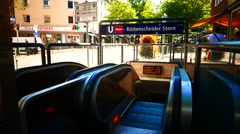 4K Metro subway escalator Essen NRW Germany Europe Stock Footage