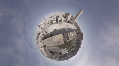 Tower of David, Jerusalem old city Near Jaffa gate 360 video planet Stock Footage