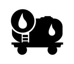 Oil tank and droplet icon Piirros