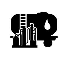 Oil tank and oil refinery icon Stock Illustration