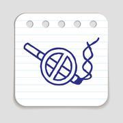 No smoking doodle icon Stock Illustration