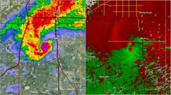 2013 Moore OK Tornado Doppler Radar Stock Illustration