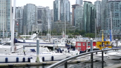 Panoramic view of Canadian city Stock Footage