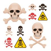 Skull with crossbones as a symbol of danger alert Stock Illustration