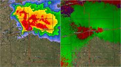2007 Greensburg KS Tornado Doppler Radar Stock Illustration