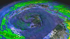 Hurricane Gustav Eye 3D Radar Piirros