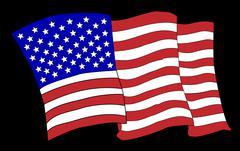 Waving American Flag Piirros