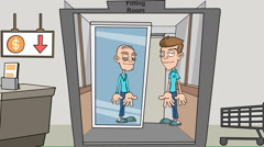 Old Man in the Mirror,( Fitting Room) Version #3: Loop Stock Footage