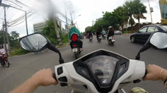Motorcycle Ride Through Chiang Mai, Thailand Stock Footage