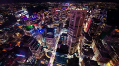 City Arial Wide Static Stock Footage