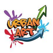 Urban art and graffiti design Stock Illustration