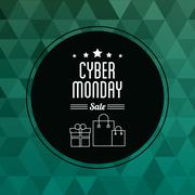 Shopping bag gift and cyber monday design Stock Illustration