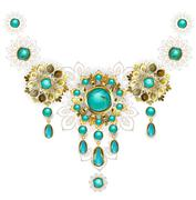 Jewelry with turquoise Stock Illustration