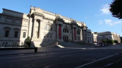 Outside the NYC Metropolitan Museum of Art Stock Footage