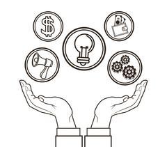 Money economy and commerce design Stock Illustration