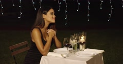 Romantic man surprising his date with a rose Stock Footage