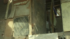 House in slum area Stock Footage