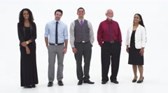 Group of multicultural coworkers Stock Footage