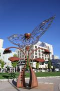 Portal of Evolution sculpture in downtown plaza, Reno, Nevada Kuvituskuvat