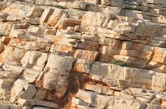Brown Sedimentary Rocks Stock Photos