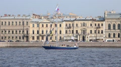 "Yacht ""Adventure"" of the Ministry of Defence of Russia Stock Footage"