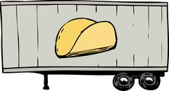 Truck Trailer with Taco Symbol Piirros