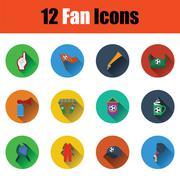 Set of twelve soccer icons Stock Illustration