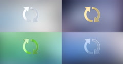 Refresh 3d Icon Stock Footage